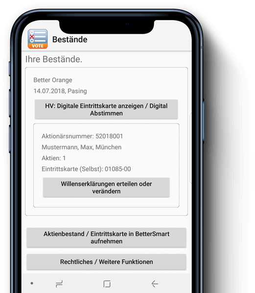 Better Smart-App by Better Orange IR & HV AG München